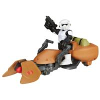 Playskool Heroes Star Wars Galactic Heroes Speeder Bike and Scout Trooper