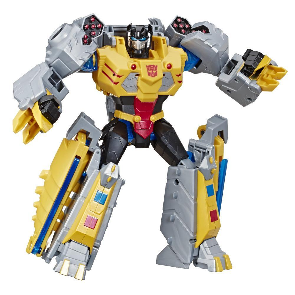 Transformers Toys Cyberverse Action Attackers Ultimate Class Grimlock Action Figure - Repeatable Seismic Stomp Action Attack - For Kids Ages 6 and Up, 9.75 inch