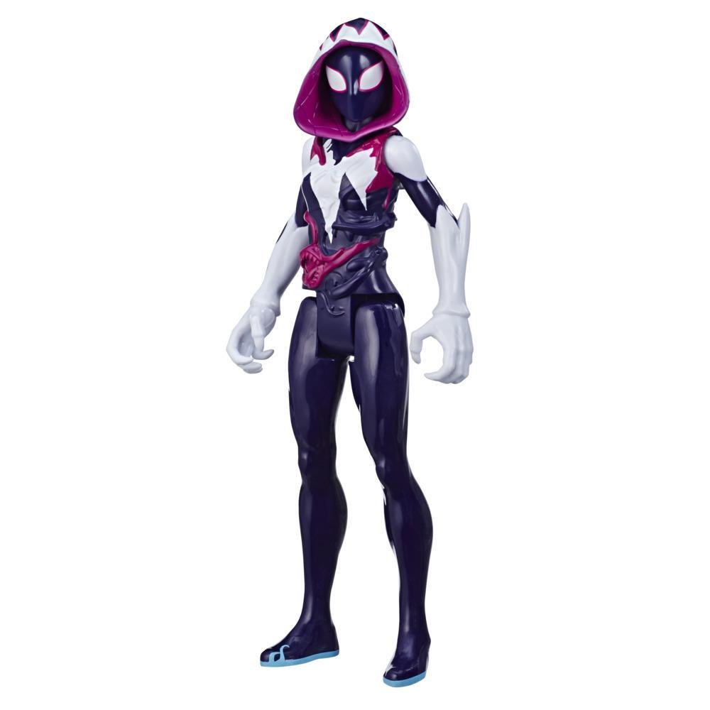 Spider-Man Maximum Venom Titan Hero Ghost-Spider Action Figure Toy, With Blast Gear-Compatible Back Port, Ages 4 And Up