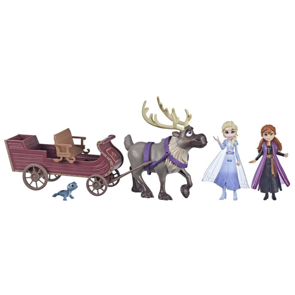 Disney's Frozen 2 Sledding Friends Set, Includes Anna, Elsa, Bruni, and Sven, Toy for Kids 3 and Up