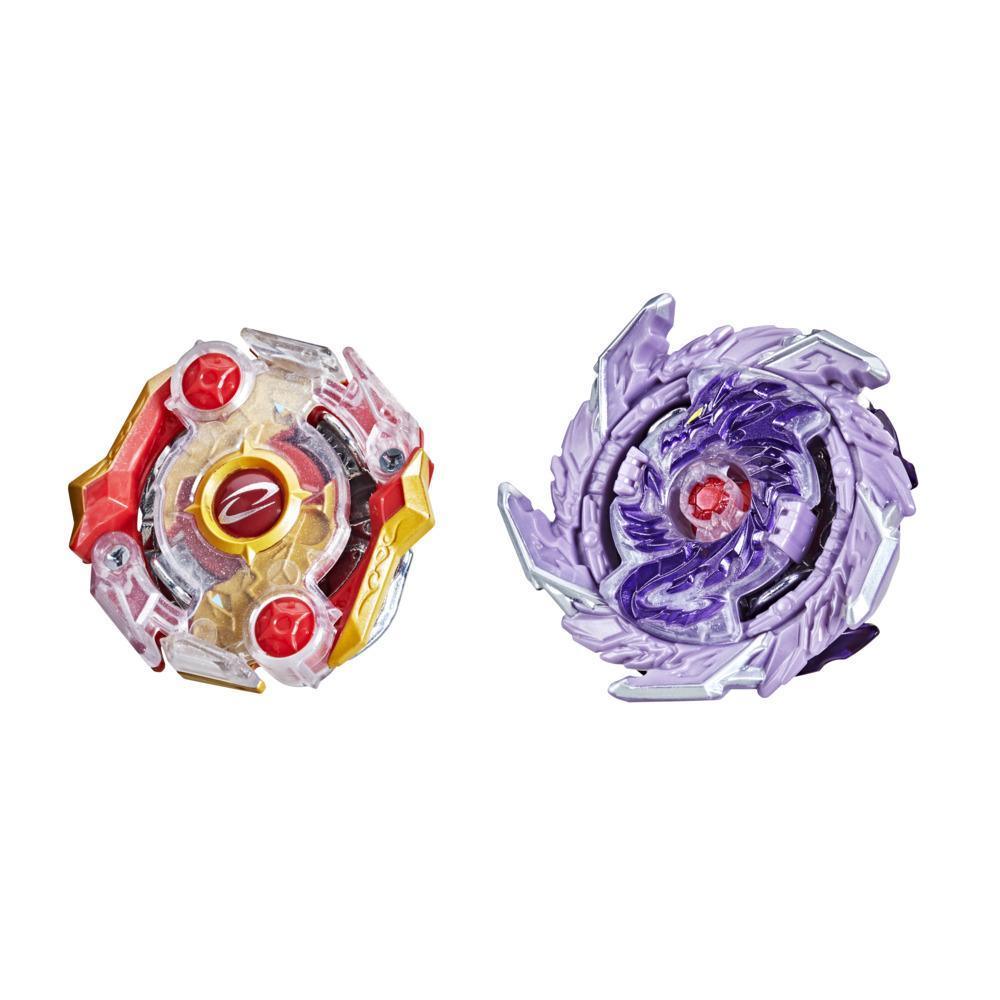 Beyblade Burst Surge Speedstorm Kolossal Fafnir F6 and Odax O6 Spinning Top Dual Pack -- Battling Game Top Toy