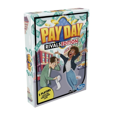 Pay Day Rivals Edition Board Game, Fun Family Game for 2 Players, Money Game for Kids Ages 8 and Up