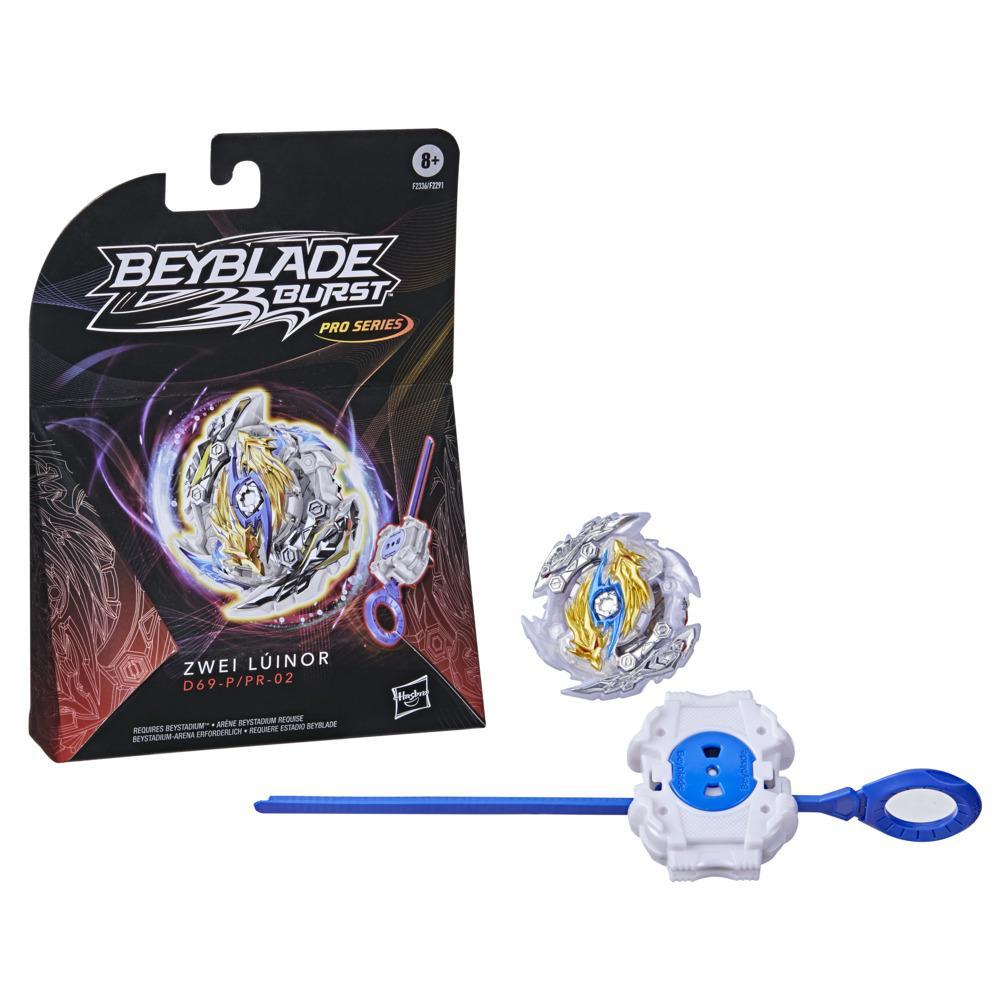 Beyblade Burst Pro Series Zwei Luinor Spinning Top Starter Pack -- Battling Game Top with Launcher Toy