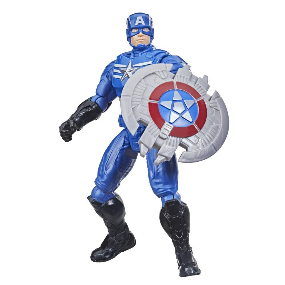 Marvel Avengers Mech Strike 6-inch Scale Action Figure Toy Captain America And Mech Battle Accessory, For Kids Ages 4 And Up