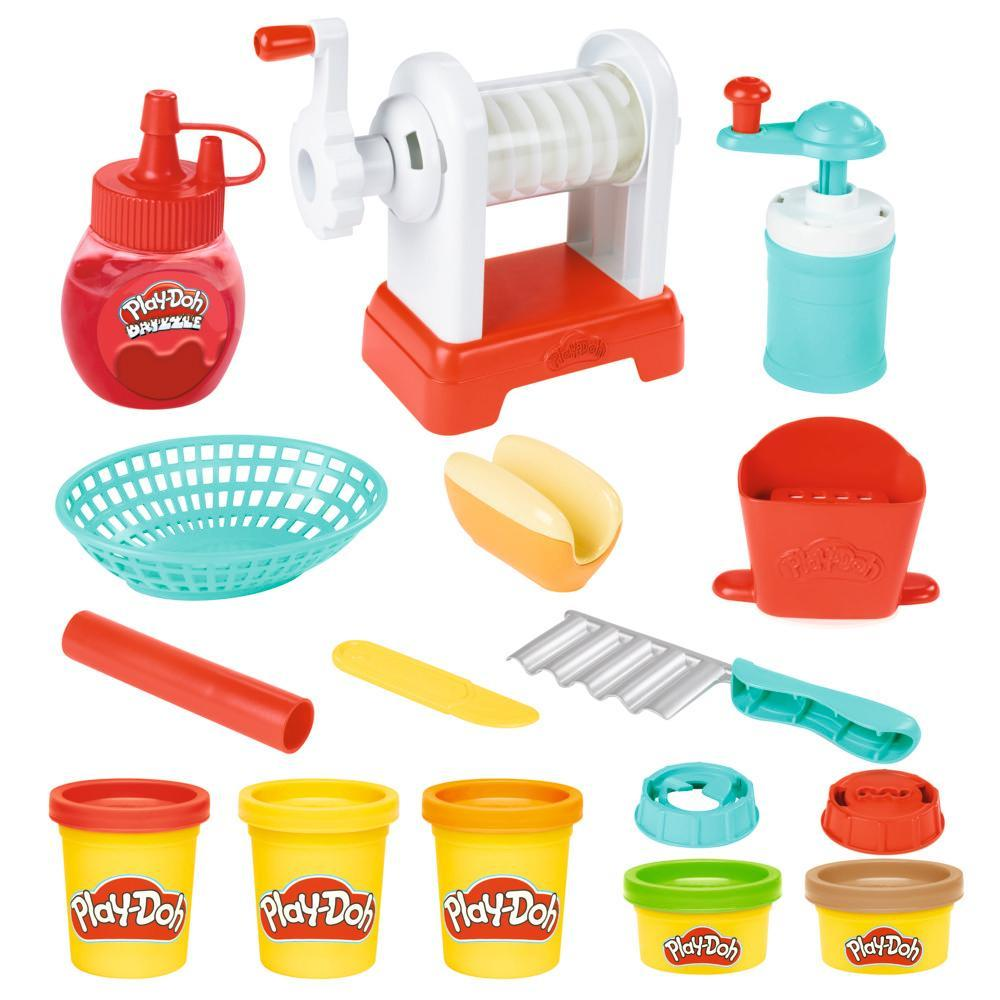 Play-Doh Kitchen Creations Spiral Fries Playset for Kids 3 Years and Up, Non-Toxic