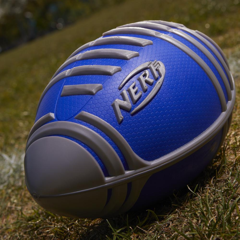 Nerf Weather Blitz Foam Football For All-Weather Play, Easy-To-Hold Grips, Great For Indoor and Outdoor Games -- Silver