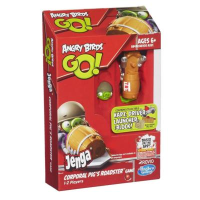 Angry Birds Go! Jenga Corporal Pig's Roadster Game