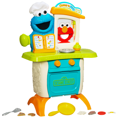 PLAYSKOOL SESAME STREET COME 'N PLAY COOKIE MONSTER KITCHEN CAFÉ