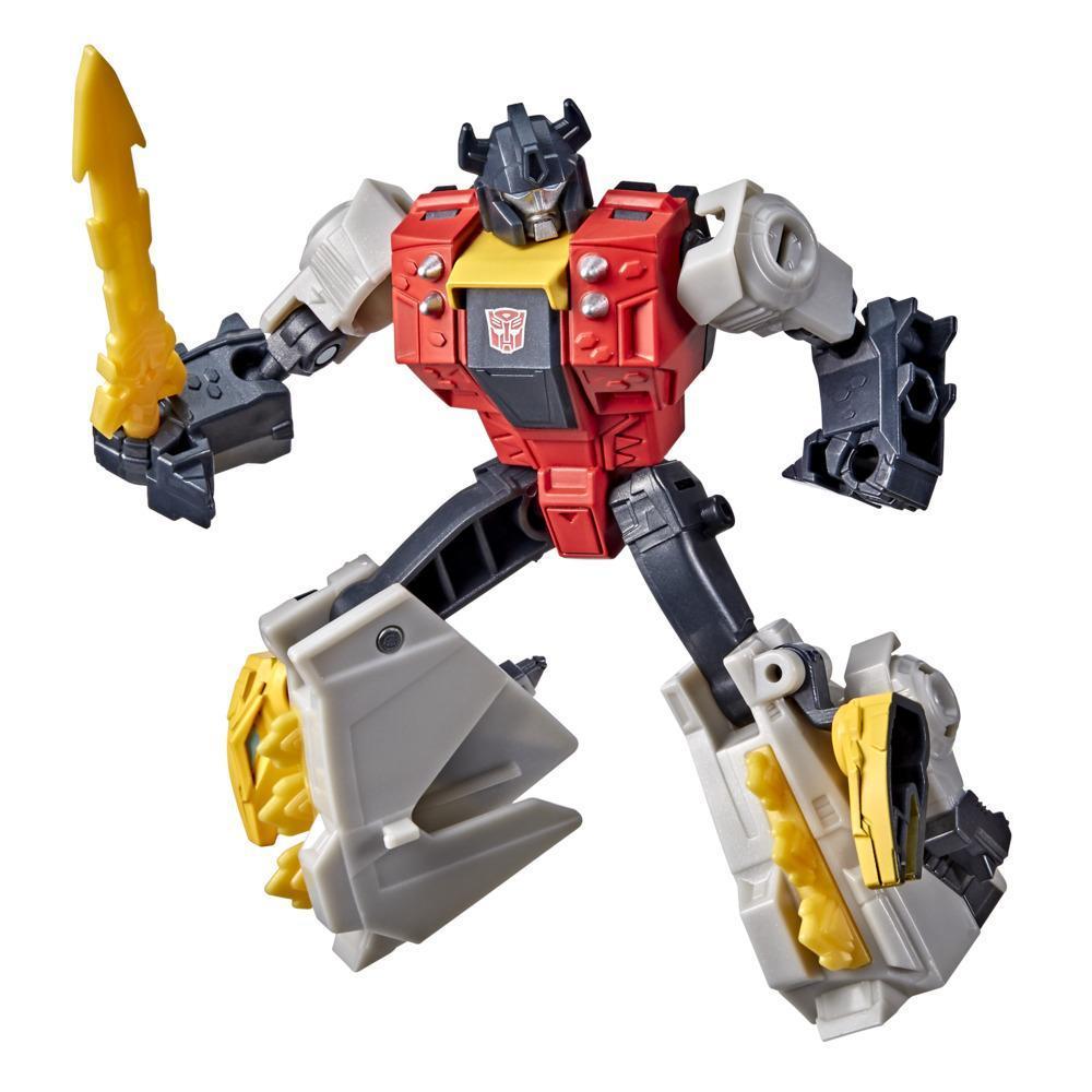 Transformers Bumblebee Cyberverse Adventures Dinobots Unite Action Attackers Warrior Dinobot Snarl Figure, 5.4-inch