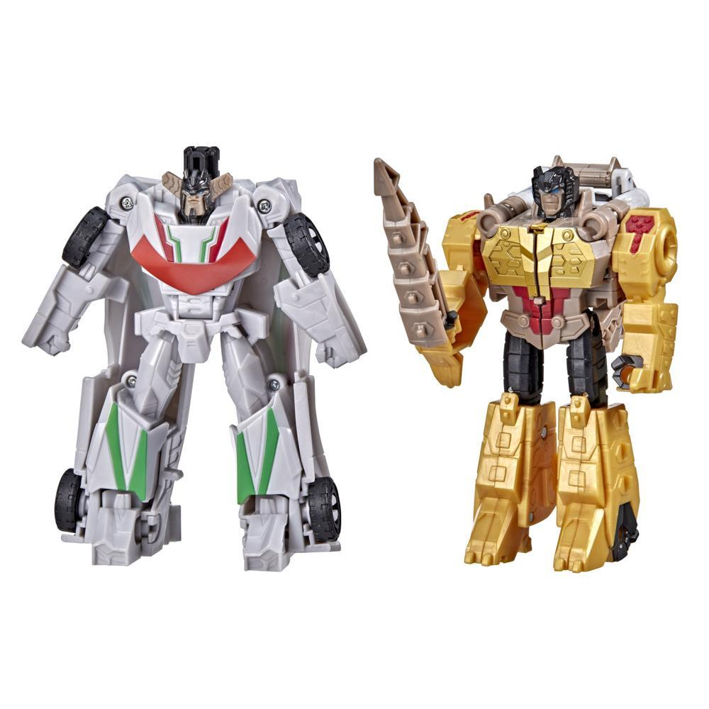 Transformers Bumblebee Cyberverse Adventures Dinobots Unite Dino Combiners Wheelgrim Figures, Ages 6 and Up, 4.5-inch