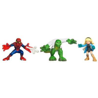 MARVEL Super Hero Squad THE AMAZING SPIDER-MAN Escape From Lizard's Lair! 3-Pack