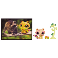 LITTLEST PET SHOP POSTCARD PETS (Raccoon)