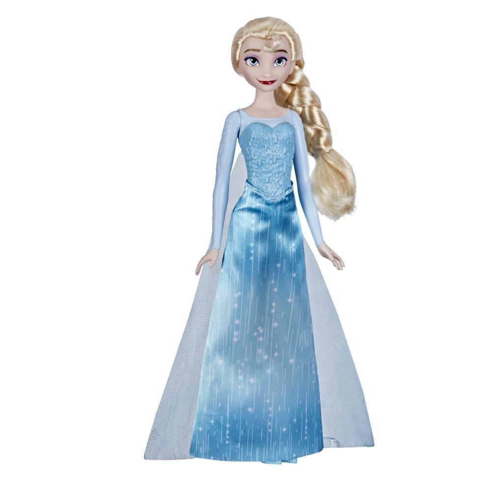 Disney's Frozen Shimmer Elsa Fashion Doll, Skirt, Shoes, and Long Blonde Hair, Toy for Kids 3 Years Old and Up