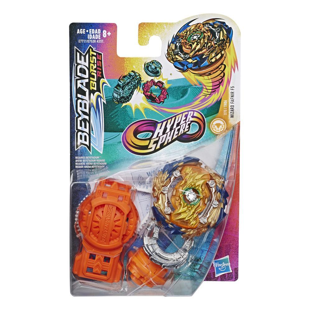 Beyblade Burst Rise Hypersphere Wizard Fafnir F5 Starter Pack -- Battling Top Toy and Right/Left-Spin Launcher