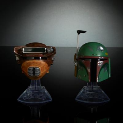 Star Wars Black Series Titanium Series Boba Fett & Princess Leia Organa (Boushh) Helmets