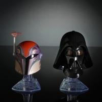 Star Wars Black Series Titanium Series Sabine Wren and Darth Vader Helmets
