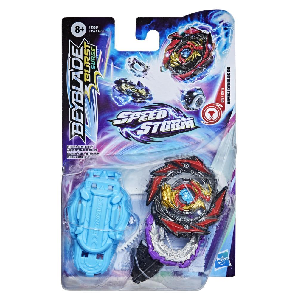 Beyblade Burst Surge Speedstorm Demise Devolos D6 Spinning Top Starter Pack -- Battling Game Top Toy with Launcher