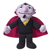 Playskool Friends Sesame Street Bean Bag Buddies The Count Plush