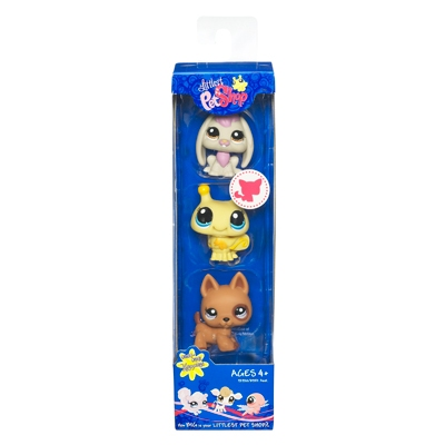 LITTLEST PET SHOP (Three-Pack) (Rabbit, Bumble Bee, Shepherd)
