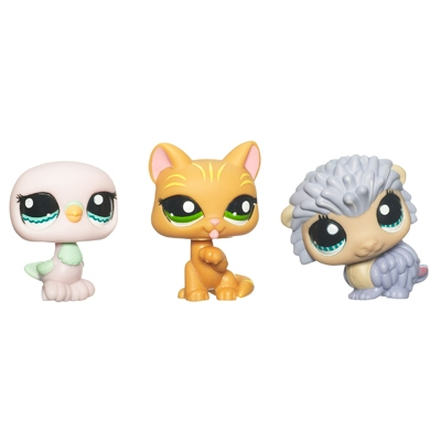 LITTLEST PET SHOP (Three-Pack) (Dove, Cat, Hedgehog)