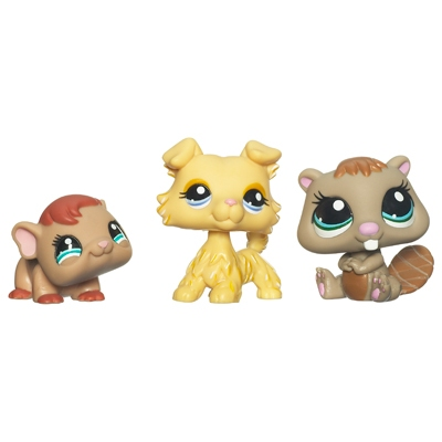 LITTLEST PET SHOP (Three-Pack) (Guinea Pig, Collie, Beaver)