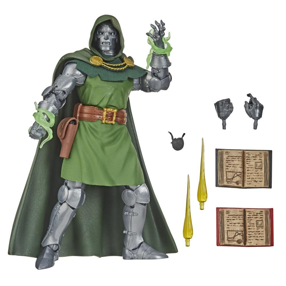 Marvel Vintage 6-Inch-Scale Dr. Doom Fantastic 4 Action Figure Toy, 10 Accessories, For Kids Ages 4 And Up