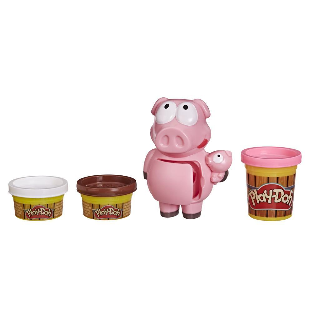 Play-Doh Animal Crew Piggy Playtime Farm Animal Playset for Kids Ages 3 and Up with 3 Non-Toxic Play-Doh Colors