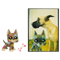 LITTLEST PET SHOP POSTCARD PETS (Great Dane)