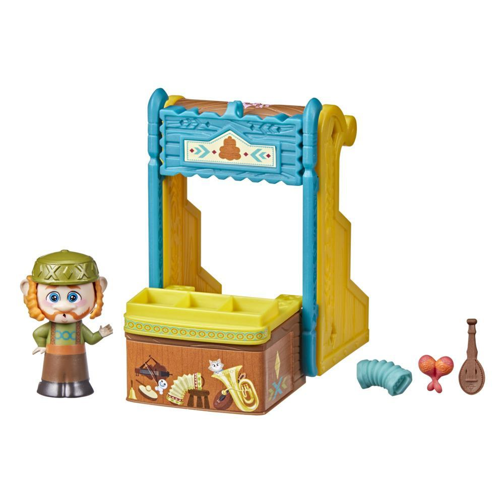 Disney's Frozen 2 Twirlabouts Series 1 Oaken Sled to Shop Playset, Includes Oaken Doll and Accessories