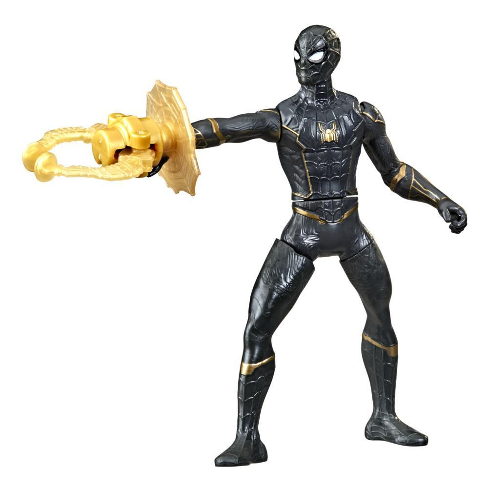 Marvel Spider-Man 6-Inch Deluxe Web Grappler Spider-Man Movie-Inspired Action Figure Toy, With Attack Feature, Kids Ages 4 and Up