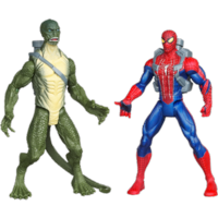 THE AMAZING SPIDER-MAN WEB BATTLERS Stream-Shootin' LIZARD VS. Web-Soakin' SPIDER-MAN Figures