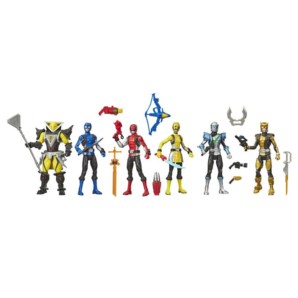 Power Rangers Beast Morphers Six Action Figure Multipack of Power Rangers and Villain Action Figure Toys with Accessories