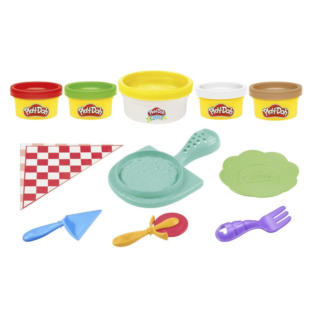Play-Doh Kitchen Creations Cheesy Pizza Playset for Kids 3 Years and Up, Non-Toxic