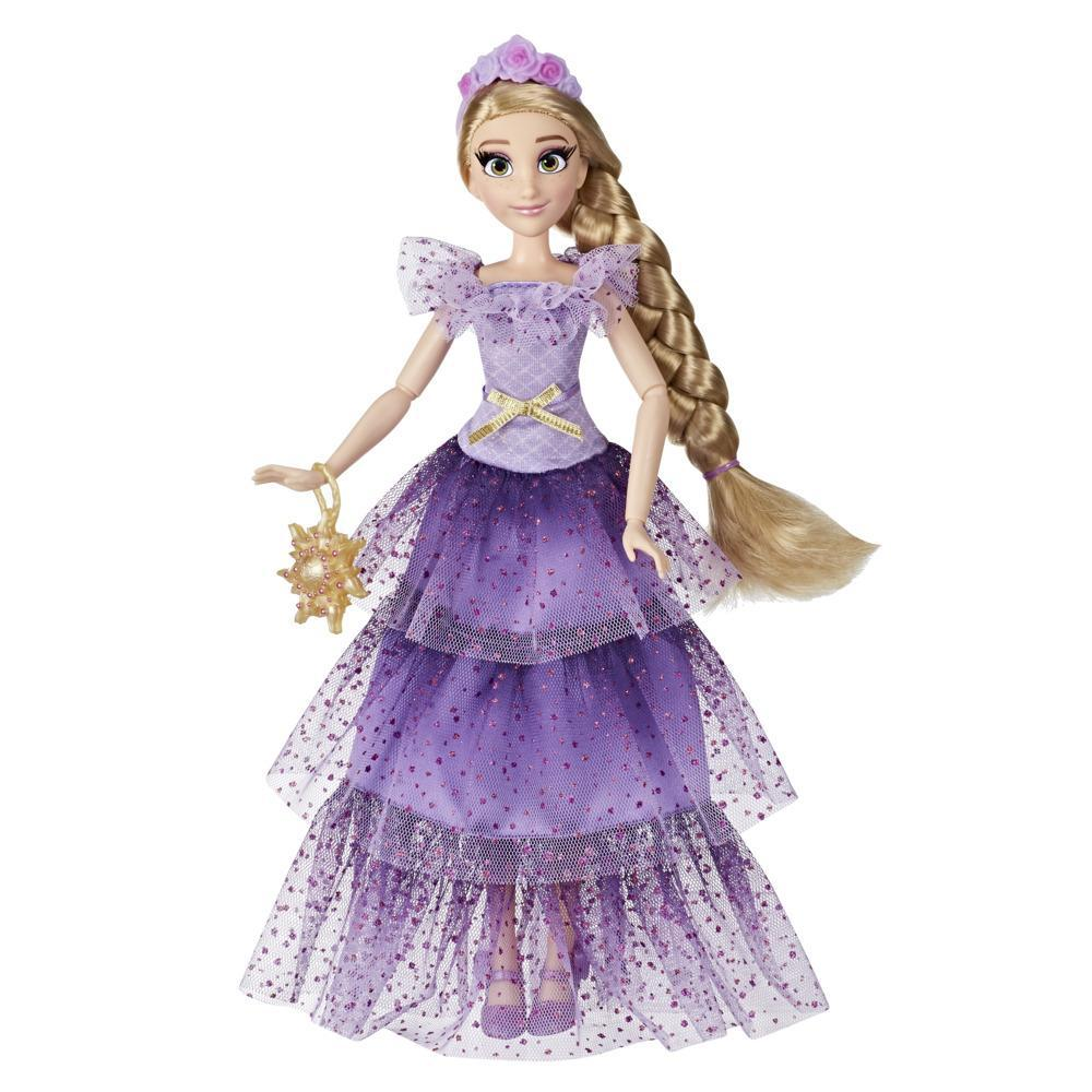 Disney Princess Style Series Rapunzel Fashion Doll, Contemporary Style Dress with Headband, Purse, and Shoes, Girls Toy