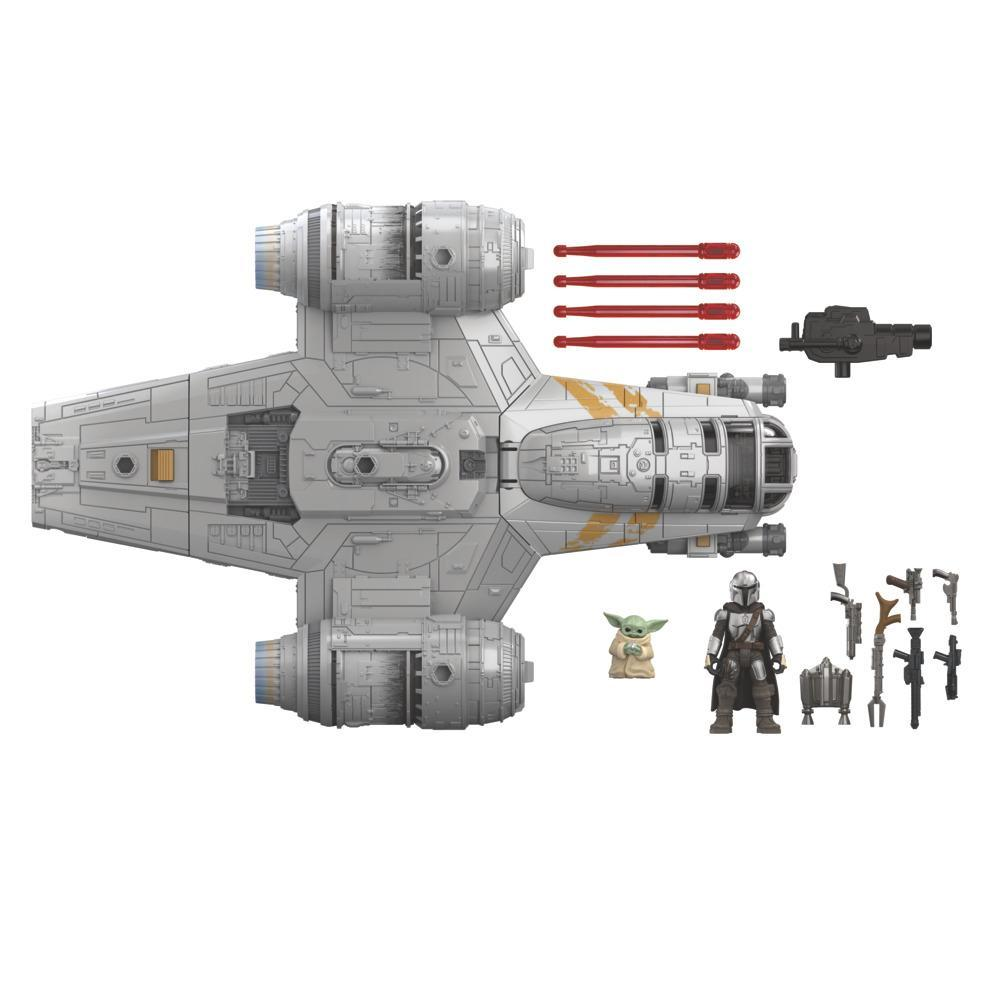 Star Wars Mission Fleet The Mandalorian The Child Razor Crest Outer Rim Run 2.5-Inch-Scale Action Figure and Vehicle Set