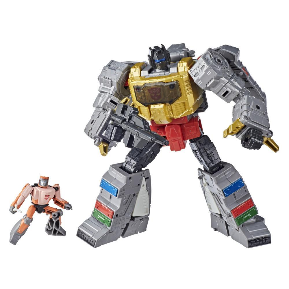 Transformers Toys Studio Series 86-06 Leader The Transformers: The Movie Grimlock and Autobot Wheelie Action Figure, 8 and Up, 8.5-inch