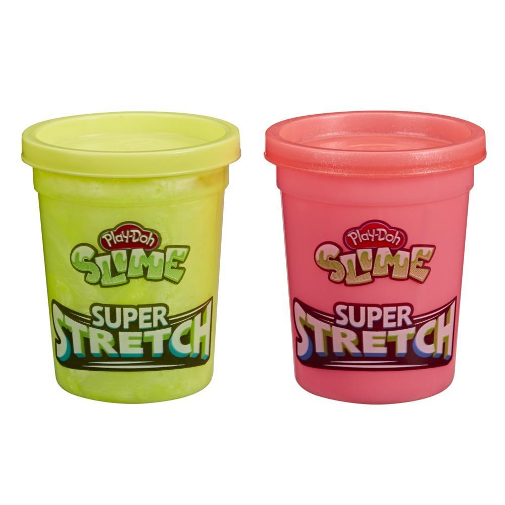 Play-Doh Slime Super Stretch 2-Pack for Kids 3 Years and Up - Yellow and Red