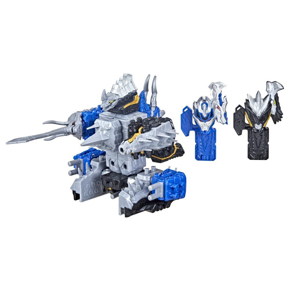 Power Rangers Dino Fury Tricera Blade and Stego Spike Zord Toys For Kids Ages 4 and Up Zord Link Custom Build System