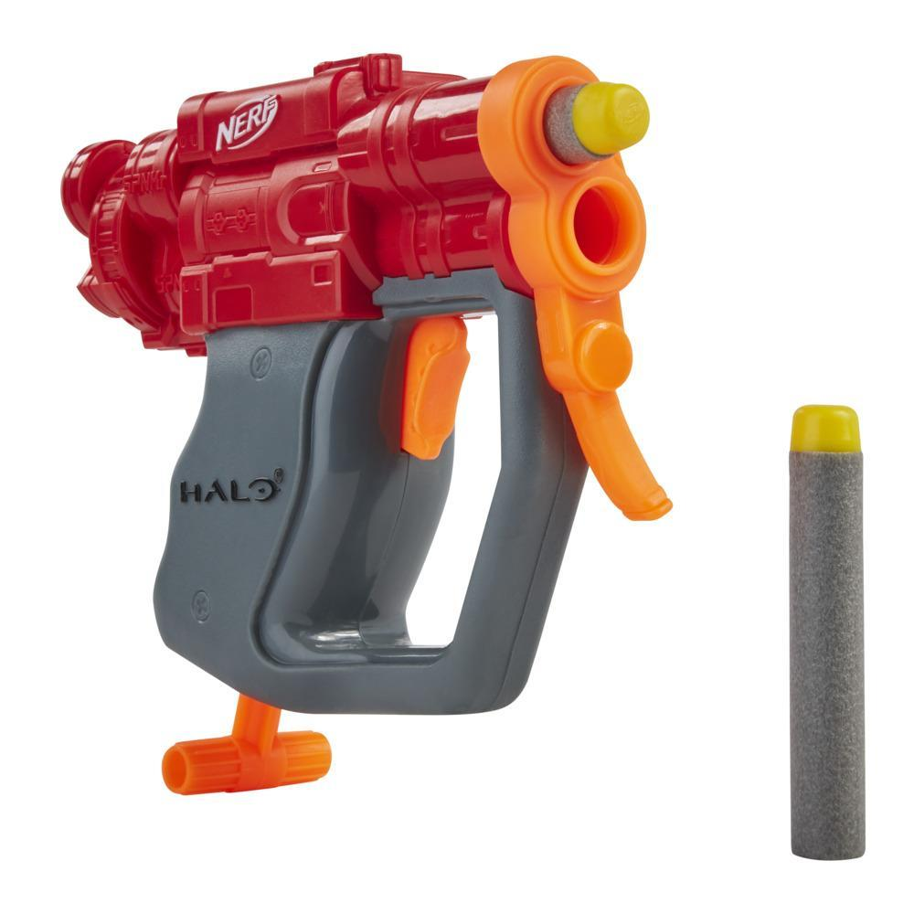 Nerf MicroShots Halo SPNKr -- Mini Dart-Firing Blaster and 2 Nerf Darts