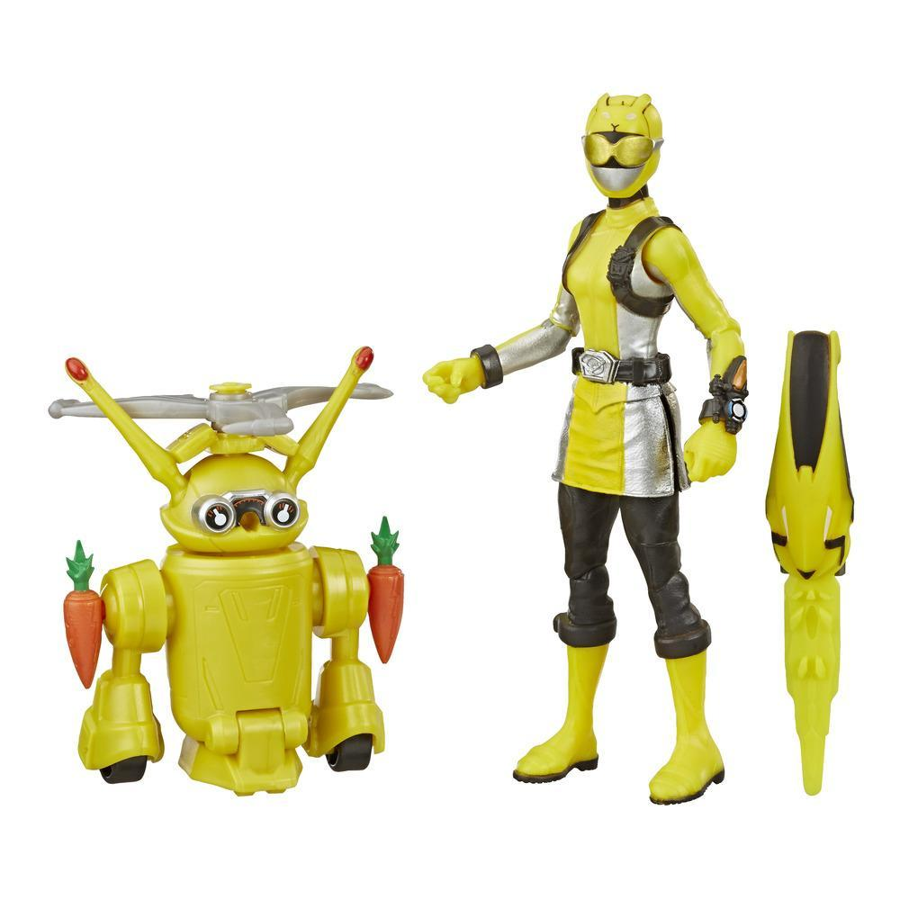 Power Rangers Beast Morphers Yellow Ranger and Morphin Jax Beastbot 6-Inch Action Figure 2-Pack
