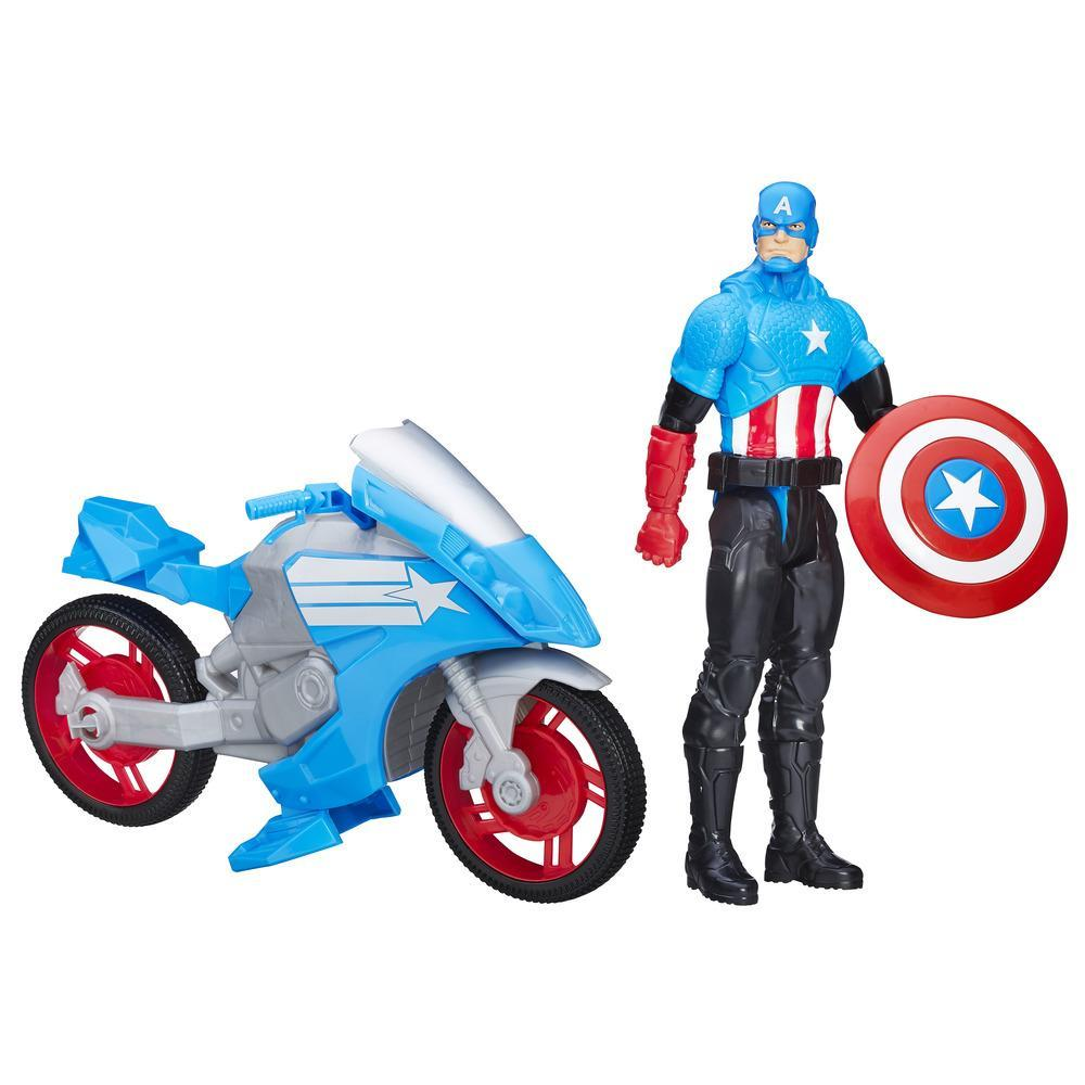 Marvel Titan Hero Series Captain America With Battle Cycle