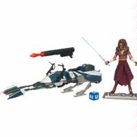 Star Wars The Clone Wars Speeder Bike with Plo Koon
