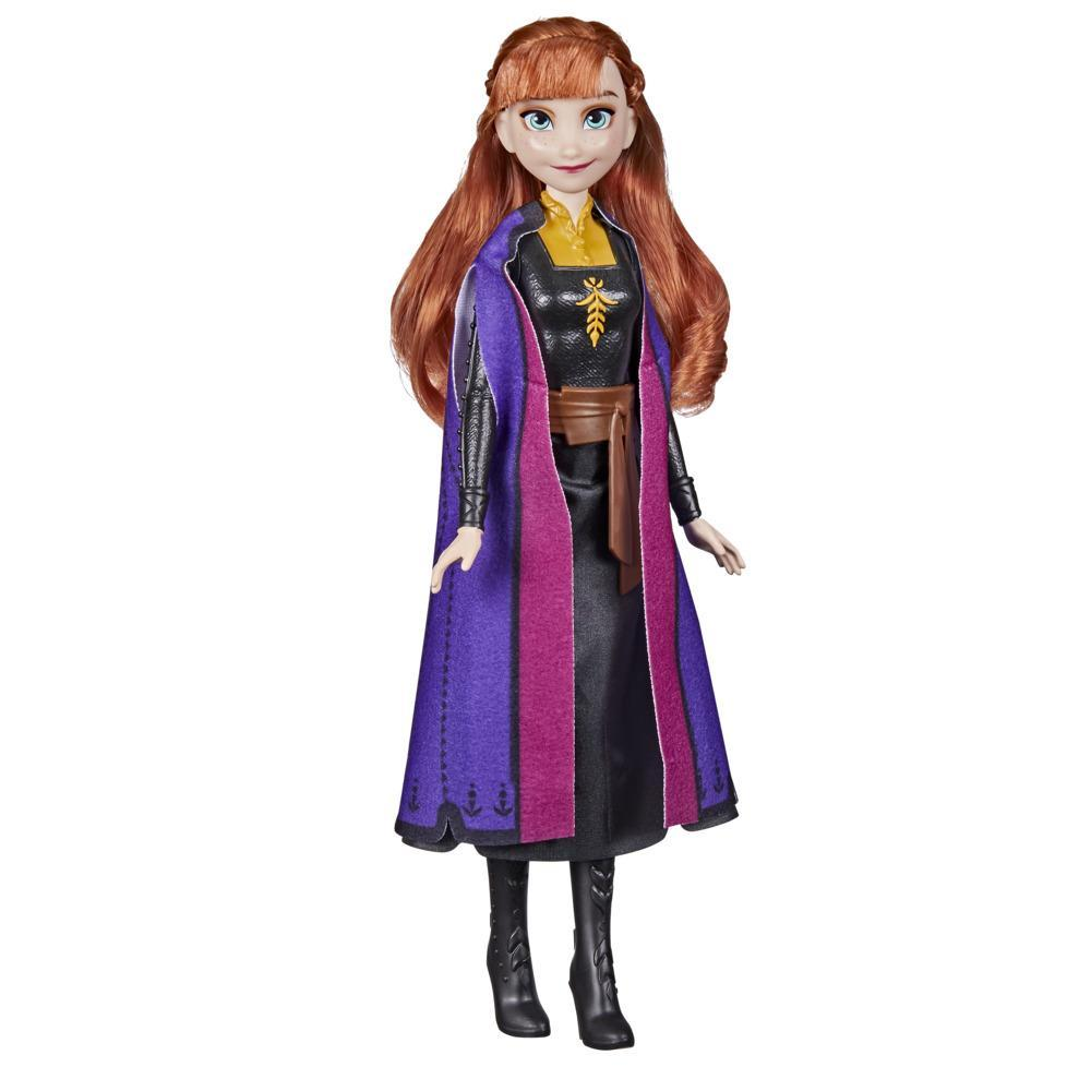 Disney's Frozen 2 Frozen Shimmer Anna Fashion Doll, Skirt, Shoes, and Long Red Hair, Toy for Kids 3 Years Old and Up