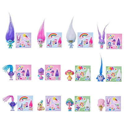 DreamWorks TrollsTopia Squad Series 1 Collectible Mini Dolls, 12 Different Surprise Dolls, Toy for Kids 4 and Up