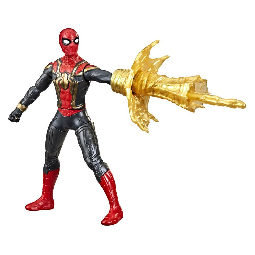 Marvel Spider-Man 6-Inch Deluxe Web Spin Spider-Man Movie-Inspired Action Figure Toy With Weapon Attack Feature, Ages 4 and Up