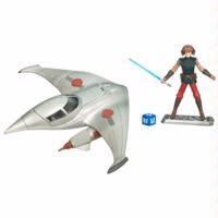 Star Wars The Clone Wars Naboo Star Skiff with Anakin Skywalker