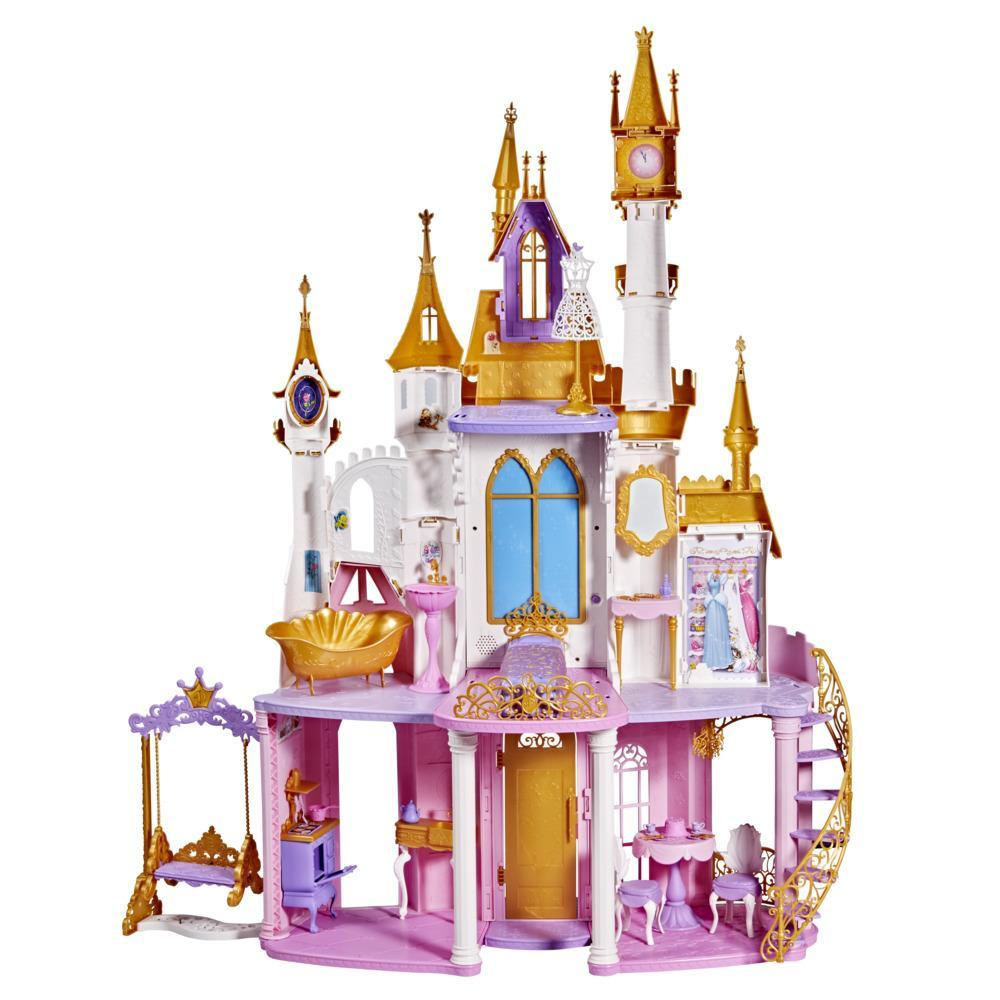 Disney Princess Ultimate Celebration Castle, Doll House with Musical Fireworks Light Show, Toy for Girls 3 and Up