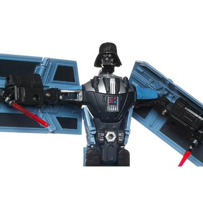 STAR WARS TRANSFORMERS DARTH VADER to TIE ADVANCED X1 STARFIGHTER Figure
