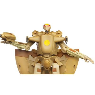 STAR WARS TRANSFORMERS BATTLE DROID to AAT Figure