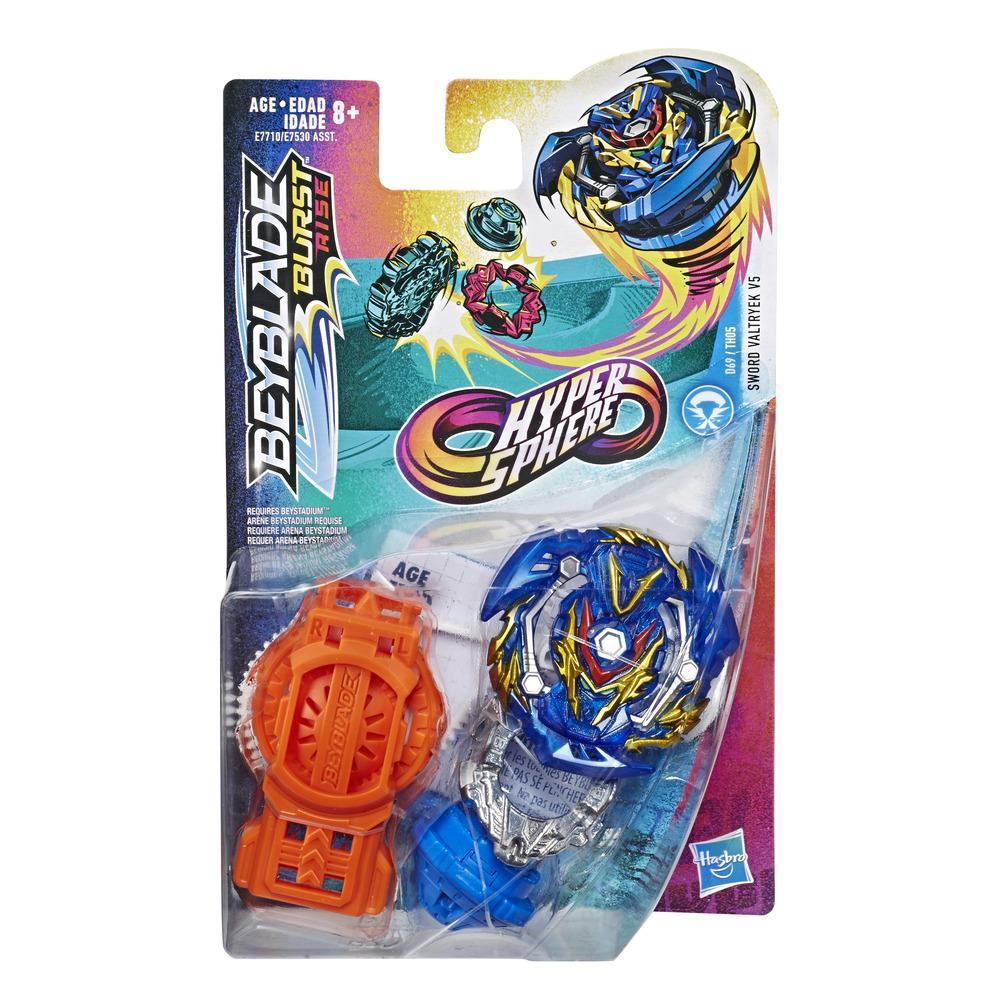 Beyblade Burst Rise Hypersphere Sword Valtryek V5 Starter Pack -- Battling Top Toy and Right/Left-Spin Launcher